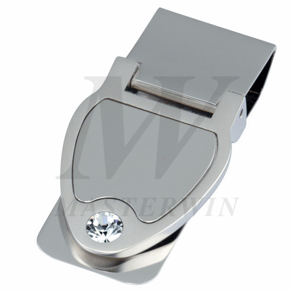 Metal Money Clip with Crystal_8885