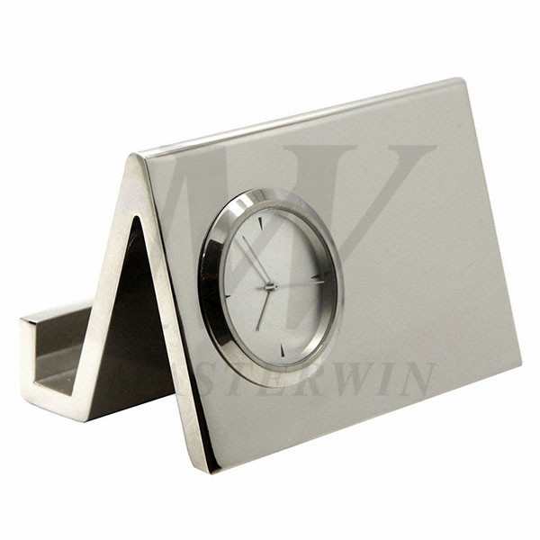Desk Clock with Card Holder_B3601