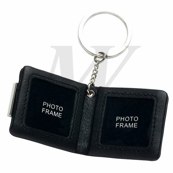Leather/Metal Keyholder with Photo Frame_64779_s1