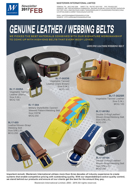 GEnuine Leather / Webbing Belts