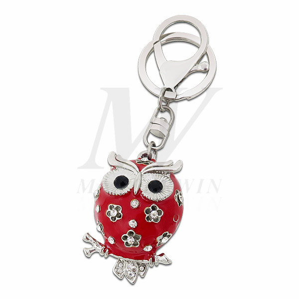 OWL Metal Keychain with Crystals_KC17-010