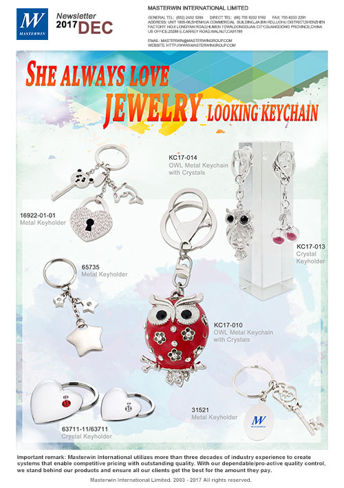 She always love jewelry looking keychain