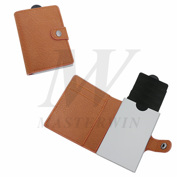 Alumium Credit Card Cases with PU Pouch_PC18-011PBR
