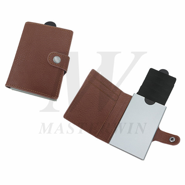 Alumium Credit Card Cases with PU Pouch_PC18-011PBW